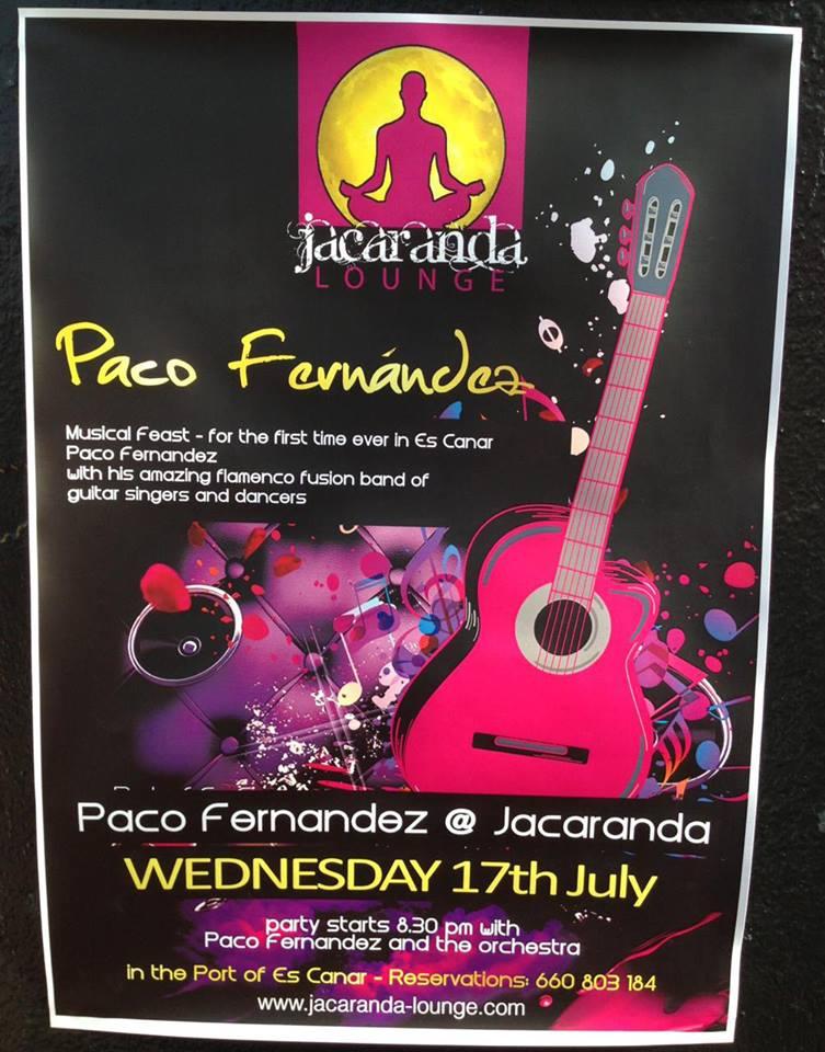 Paco Fernandez at Jacaranda  Jacaranda Fernandez